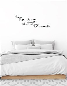 gifts: Every Love Story Is Beautiful Wall Vinyl!