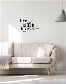gifts: Love Laugh Love Wall Vinyl!