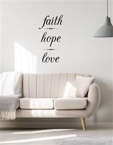 gifts: Faith Hope Love Wall Vinyl!