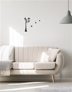 gifts: Lamp Post Birds Wall Vinyl !