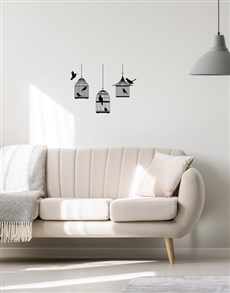 gifts: Bird Cage Wall Vinyl !