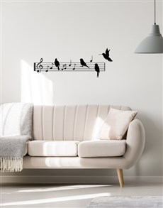 gifts: Birds On A Lyric Wire Wall Vinyl!