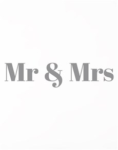 gifts: Mr And Mrs Wall Vinyl!