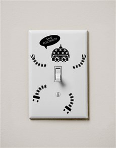 gifts: Save Electricity Switch Wall Vinyl !