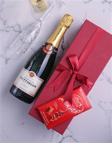 gifts: Red Box of Taittinger Champagne!