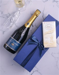 gifts: Blue Box of LOrmarins Blanc de Blanc!