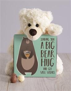 flowers: Get Well Bear Hug Teddy Hamper!