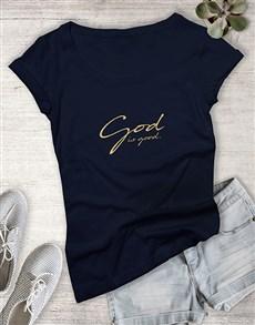 gifts: Ladies God Is Good Christian Shirt!