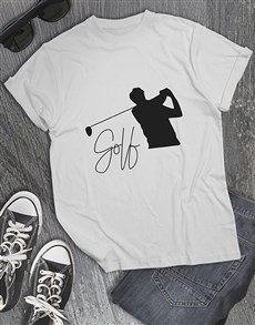 gifts: Golf Silhouette Shirt!