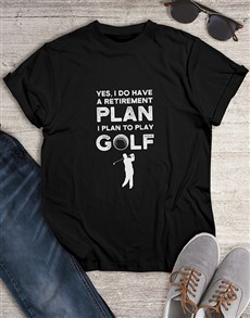 gifts: Golf Is My Retirement Plan Shirt!