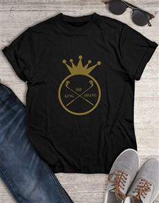 gifts: King Of Swing Golfer Shirt!