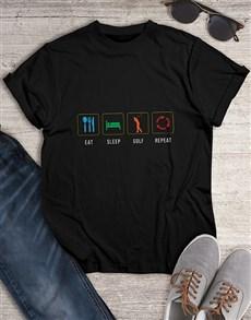 gifts: Eat Sleep Golf Repeat Shirt!