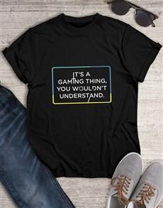 gifts: Gaming Things Tshirt!