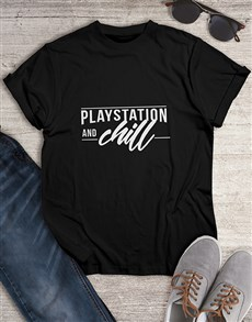 gifts: Playstation and Chill Gaming Tshirt!