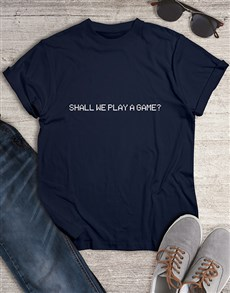 gifts: Shall We Play a Game Tshirt!