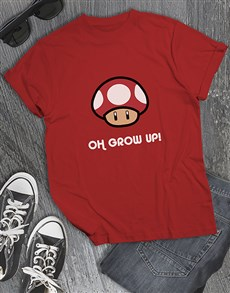 gifts: Grow Up Mushroom Gaming Tshirt!