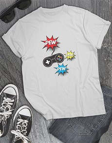 gifts: Pew Pew Pew Gaming Tshirt!