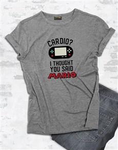 gifts: Cardio Not Mario Tshirt!