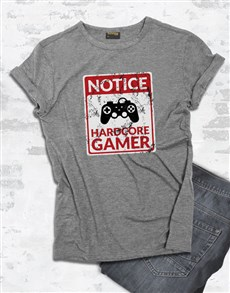 gifts: Hardcore Gamer Tshirt!