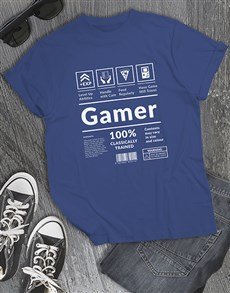gifts: Gamer Instruction Tshirt!