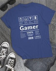gifts: Gamer Instruction Tshirt!