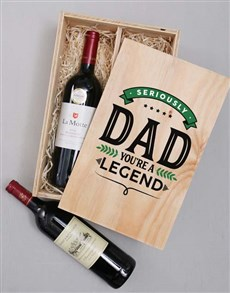 gifts: Legendary Dad Wine Duo Crate!