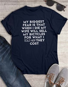 gifts: My Biggest Bicycle Fear T Shirt!