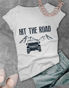 gifts: Ladies Hit the Road Jeep T Shirt!
