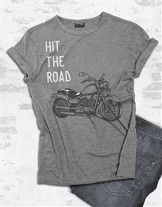 gifts: Hit The Road Motorcycle T Shirt!