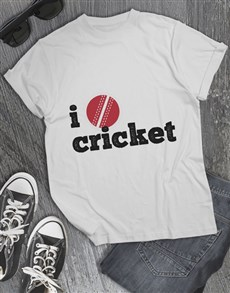 gifts: I Love Cricket T Shirt!