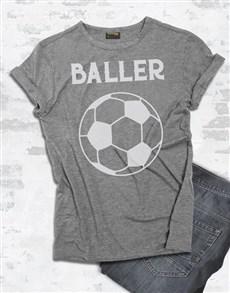 gifts: Soccer Baller T Shirt!