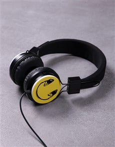 gifts: Smiley Face Headphones!