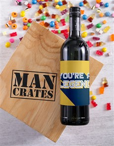 gifts: Legend Wine Man Crate!