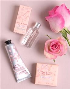 gifts: Loccitane Cherry Blossom Gift Set Box!
