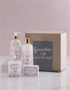 gifts: Grandma Floral Bath Kraft Gift Set!