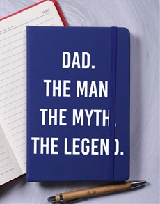 gifts: Dad Myth Legend A5 Notebook!