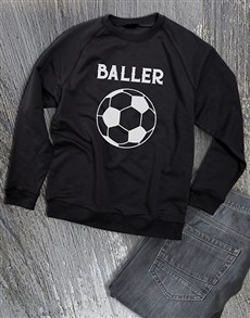 gifts: Soccer Baller Sweatshirt!