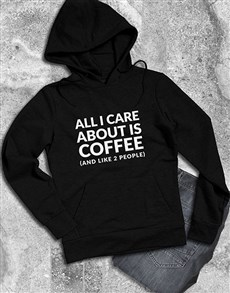gifts: Care About Coffee Hoodie!