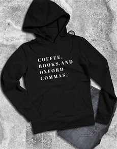gifts: Coffee Books And Commas Hoodie!