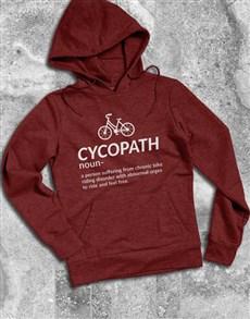 gifts: Cycling Cycopath Hoodie!