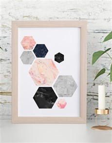 gifts: Hexagon Framed Wall Art!