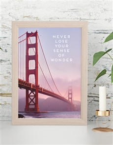 gifts: Sense of Wonder Framed Wall Art!