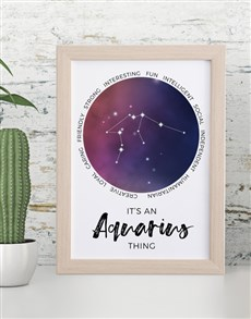 gifts: Aquarious Framed Wall Art!