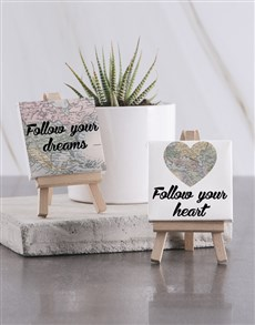 gifts: Follow Your Dreams Mini Canvas !
