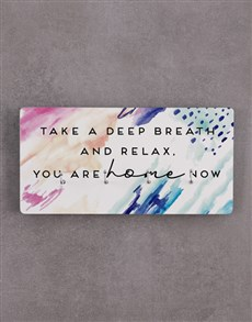 gifts: Relax You Are Home Key Holder!