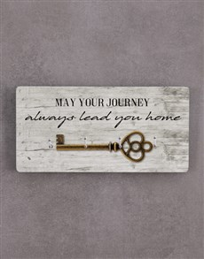gifts: May Your Journey Lead You Home Key Holder !