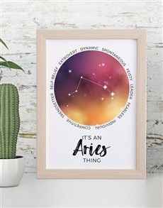 gifts: Aries Framed Wall Art!