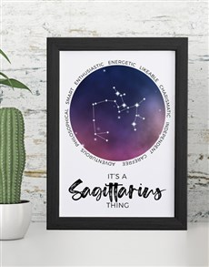 gifts: Sagettarius Framed Wall Art!