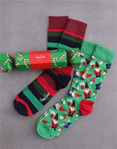 gifts: Happy Socks Candy Cane Festive Cracker!