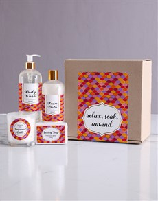 gifts: Relax Bath Kraft Gift Set!